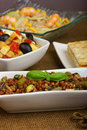 Assorted fresh summer salads Royalty Free Stock Photo
