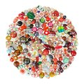Assorted glass beads india Stock Photos