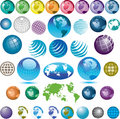 Assorted globe icons Royalty Free Stock Photo