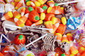 Assorted halloween candy and toys Royalty Free Stock Photo
