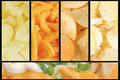Assorted Junk Food Collage Background Royalty Free Stock Images