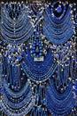 Assorted Lapis Lazuli jewelry on display Royalty Free Stock Photo