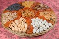 Assorted nuts and dried fruits Royalty Free Stock Photo