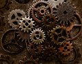 Assorted old metal grunge gears Royalty Free Stock Photo