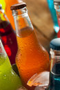 Assorted Organic Craft Orange Soda Royalty Free Stock Photo