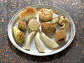 Assorted oriental pastries Stock Images