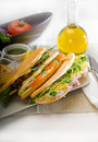 Assorted panini sandwich Royalty Free Stock Image