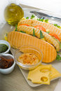 Assorted panini sandwich Royalty Free Stock Photo