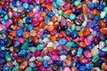 Assorted polished rocks Royalty Free Stock Photo