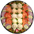 Assorted salad platter Stock Photos