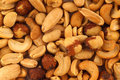 Assorted salted nuts Stock Image
