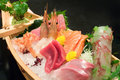 Assorted sashimi boat Stock Photos