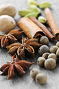 Assorted spices Stock Photos