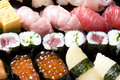 Assorted sushi Stock Photo