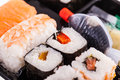 Assorted sushi rolls Royalty Free Stock Photo