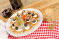 Assorted tapas a dish with spanish finger food Royalty Free Stock Image