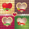 Assorted  Valentine heart label collection Stock Image