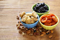 Assorted various dried fruits Royalty Free Stock Photo