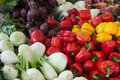 Assorted Vegetable Display  Stock Photo
