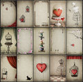 Assorted vintage backgrounds Royalty Free Stock Photo