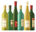 Assorted wine bottles Royalty Free Stock Image