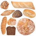 Assortment of baked bread collection Stock Image
