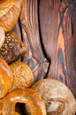 An assortment of bakery breads Stock Image