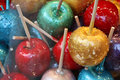 Assortment of candy apples Royalty Free Stock Photos