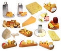 Assortment of cheese. Royalty Free Stock Photos