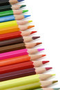 Assortment of color pencils Royalty Free Stock Photo