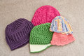 Assortment Of Crocheted Hats