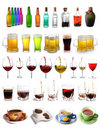Assortment of drinks Stock Photos