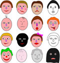 Assortment of emotions Stock Photo
