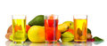 Assortment of exotic fruits and juice Royalty Free Stock Photo