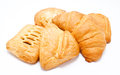 Assortment of fresh puff pastry isolated on a white background Royalty Free Stock Photography