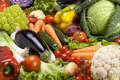 Assortment of fresh vegetables close up Royalty Free Stock Images