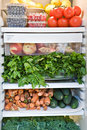 Assortment of Fruits and Vegetables Stock Photo