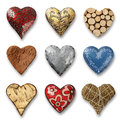 Assortment of hearts Stock Photo
