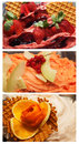 Assortment of ice cream fruit Royalty Free Stock Images