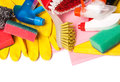 Assortment of means for cleaning and washing Stock Photo