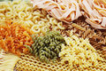 Assortment of pasta Stock Image