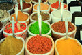 Assortment of powder spices close up Stock Photography