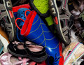 Assortment of shoes Stock Images