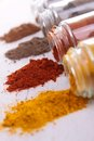 Assortment of spices Stock Photos