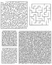 Assortment of Square Mazes Royalty Free Stock Photo