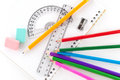 Assortment of stationery Stock Photography