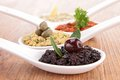 Assortment of tapenade close up on Royalty Free Stock Photo