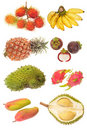 Assortment Of Tropical Fruits Stock Photo