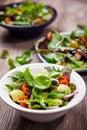 Assortment of veggie salads fresh Stock Photos