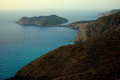 Assos greece view of village in the ionian sea island of kefalonia Stock Photography